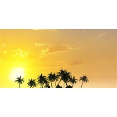 Beautiful Island In The Sunset YOU ARE INVITED 3D Greeting Card (8x4)