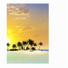 Beautiful Island In The Sunset Large Garden Flag (Two Sides)