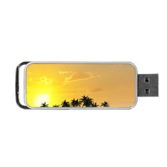 Beautiful Island In The Sunset Portable USB Flash (One Side)