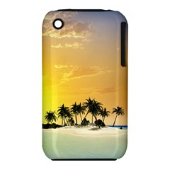 Beautiful Island In The Sunset Apple iPhone 3G/3GS Hardshell Case (PC+Silicone)