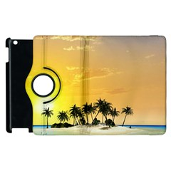 Beautiful Island In The Sunset Apple iPad 3/4 Flip 360 Case