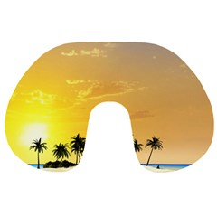 Beautiful Island In The Sunset Travel Neck Pillows
