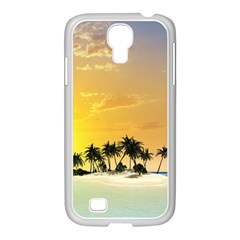 Beautiful Island In The Sunset Samsung GALAXY S4 I9500/ I9505 Case (White)