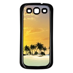 Beautiful Island In The Sunset Samsung Galaxy S3 Back Case (Black)