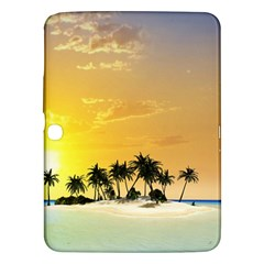Beautiful Island In The Sunset Samsung Galaxy Tab 3 (10.1 ) P5200 Hardshell Case