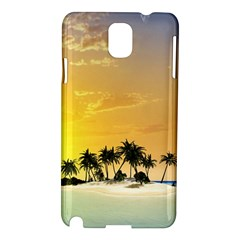 Beautiful Island In The Sunset Samsung Galaxy Note 3 N9005 Hardshell Case