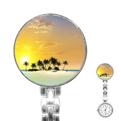 Beautiful Island In The Sunset Stainless Steel Nurses Watches