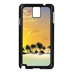 Beautiful Island In The Sunset Samsung Galaxy Note 3 N9005 Case (Black)