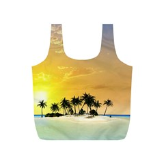 Beautiful Island In The Sunset Full Print Recycle Bags (S)