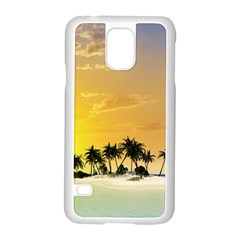 Beautiful Island In The Sunset Samsung Galaxy S5 Case (White)