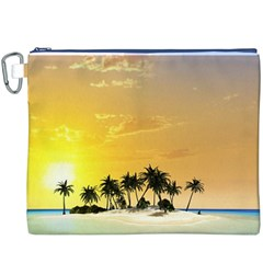 Beautiful Island In The Sunset Canvas Cosmetic Bag (XXXL)