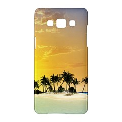 Beautiful Island In The Sunset Samsung Galaxy A5 Hardshell Case