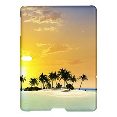 Beautiful Island In The Sunset Samsung Galaxy Tab S (10 5 ) Hardshell Case