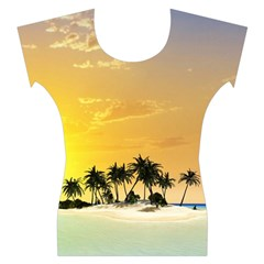 Beautiful Island In The Sunset Women s Cap Sleeve Top
