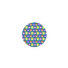 Colorful Whimsical Owl Pattern 1  Mini Magnets