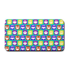 Colorful Whimsical Owl Pattern Medium Bar Mats