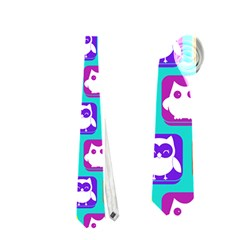 Colorful Whimsical Owl Pattern Neckties (One Side)