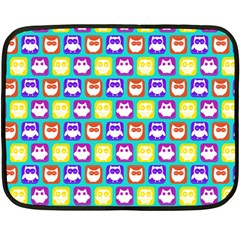 Colorful Whimsical Owl Pattern Fleece Blanket (Mini)