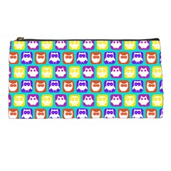 Colorful Whimsical Owl Pattern Pencil Cases