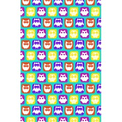 Colorful Whimsical Owl Pattern 5.5  x 8.5  Notebooks
