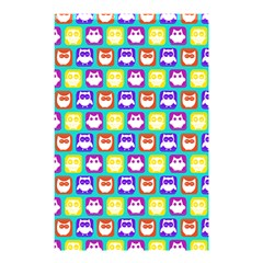 Colorful Whimsical Owl Pattern Shower Curtain 48  x 72  (Small)