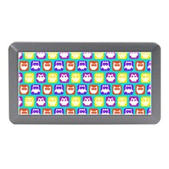 Colorful Whimsical Owl Pattern Memory Card Reader (Mini)