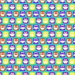 Colorful Whimsical Owl Pattern Congrats Graduate 3D Greeting Card (8x4)  Inside