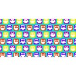 Colorful Whimsical Owl Pattern Congrats Graduate 3D Greeting Card (8x4)  Back
