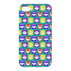 Colorful Whimsical Owl Pattern Apple iPhone 4/4S Hardshell Case