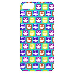Colorful Whimsical Owl Pattern Apple iPhone 5 Classic Hardshell Case