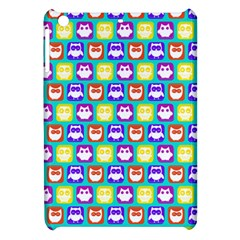 Colorful Whimsical Owl Pattern Apple iPad Mini Hardshell Case