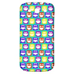 Colorful Whimsical Owl Pattern Samsung Galaxy S3 S III Classic Hardshell Back Case