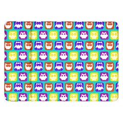 Colorful Whimsical Owl Pattern Samsung Galaxy Tab 8.9  P7300 Flip Case