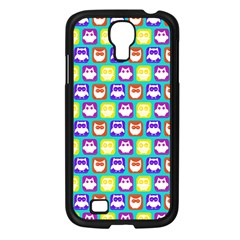 Colorful Whimsical Owl Pattern Samsung Galaxy S4 I9500/ I9505 Case (Black)