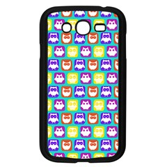 Colorful Whimsical Owl Pattern Samsung Galaxy Grand DUOS I9082 Case (Black)