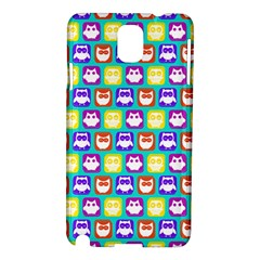 Colorful Whimsical Owl Pattern Samsung Galaxy Note 3 N9005 Hardshell Case