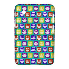 Colorful Whimsical Owl Pattern Samsung Galaxy Tab 2 (7 ) P3100 Hardshell Case