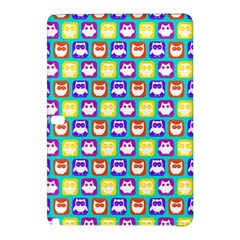 Colorful Whimsical Owl Pattern Samsung Galaxy Tab Pro 10.1 Hardshell Case