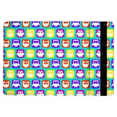 Colorful Whimsical Owl Pattern iPad Air Flip