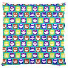 Colorful Whimsical Owl Pattern Standard Flano Cushion Cases (Two Sides)