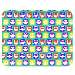Colorful Whimsical Owl Pattern Double Sided Flano Blanket (Medium)