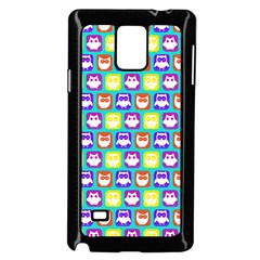 Colorful Whimsical Owl Pattern Samsung Galaxy Note 4 Case (black)