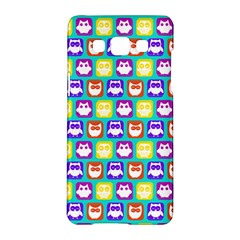 Colorful Whimsical Owl Pattern Samsung Galaxy A5 Hardshell Case
