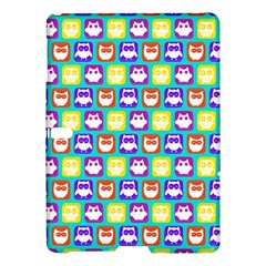 Colorful Whimsical Owl Pattern Samsung Galaxy Tab S (10.5 ) Hardshell Case