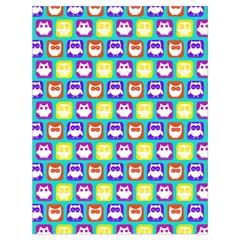 Colorful Whimsical Owl Pattern Drawstring Bag (Large)
