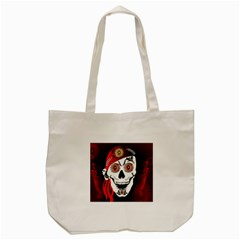 Funny Happy Skull Tote Bag (Cream)