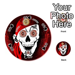 Funny Happy Skull Playing Cards 54 (Round)