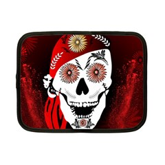 Funny Happy Skull Netbook Case (Small)