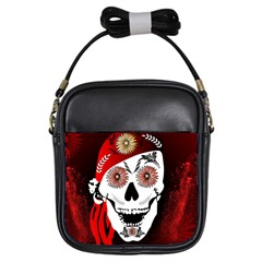 Funny Happy Skull Girls Sling Bags