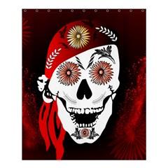 Funny Happy Skull Shower Curtain 60  x 72  (Medium)